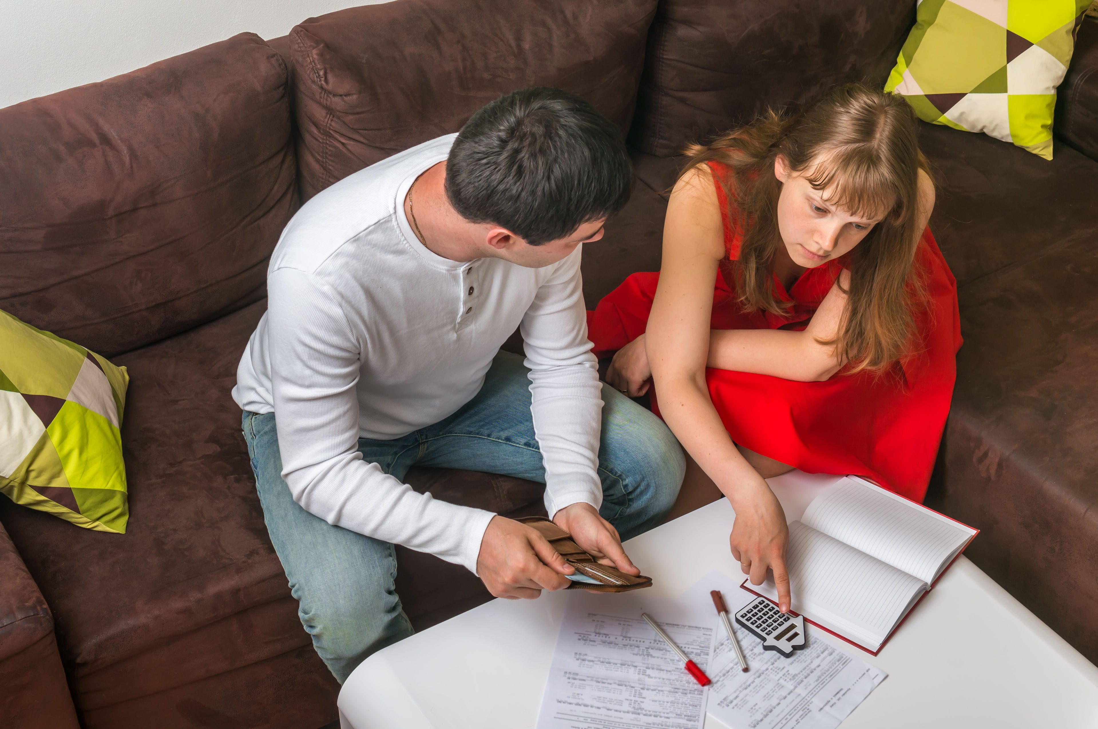couple discussing building plans